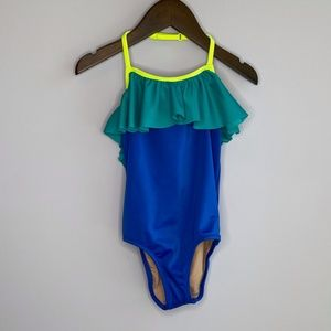 Crewcuts J Crew One-piece Colorblock Swimsuit